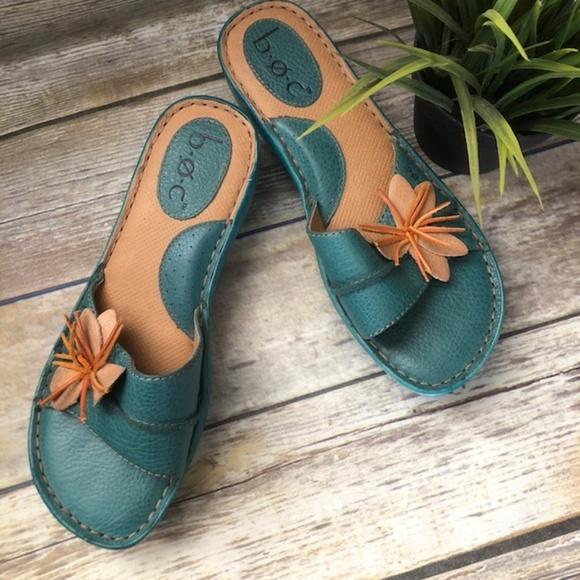bc66eb85e0b6 b.o.c. Shoes   Born Boc Cute Low Heel Wedge Flower Sandal 7   Poshmark